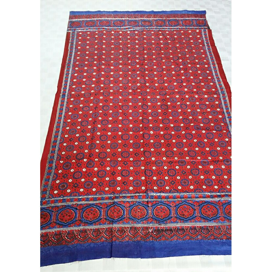 GURANTEED COTTON BLOCK PRINTED SINDHI AJRAK SA#02