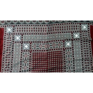 GURANTEED COTTON HIGH QUALITY 2 PIECE BLOCK PRINTED SINDHI AJRAK SA#06