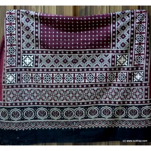 GURANTEED COTTON BLOCK PRINTED SINDHI AJRAK SA#21
