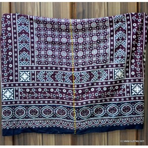 PURE COTTON HIGH QUALITY 2 PIECE BLOCK PRINTED SINDHI AJRAK SA-17