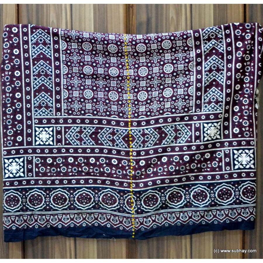 PURE COTTON HIGH QUALITY 2 PIECE BLOCK PRINTED SINDHI AJRAK SA-20
