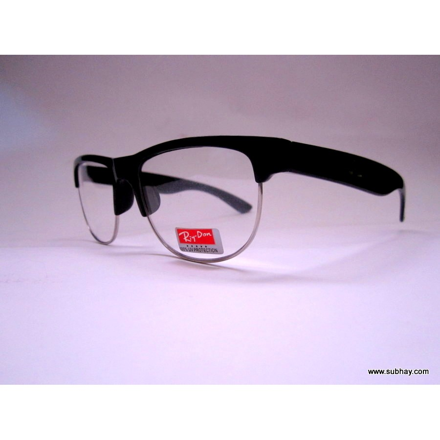 buy wayferer unisex power glasses black half frame oval