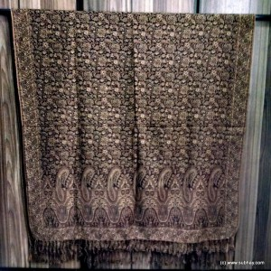 Rust Color Kashmiri / Pashmina Self Embroidered Shawl SHL-016
