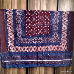 PURE COTTON HERBAL DYED BLOCK PRINTED (ORIGINAL) SINDHI AJRAK SA#25