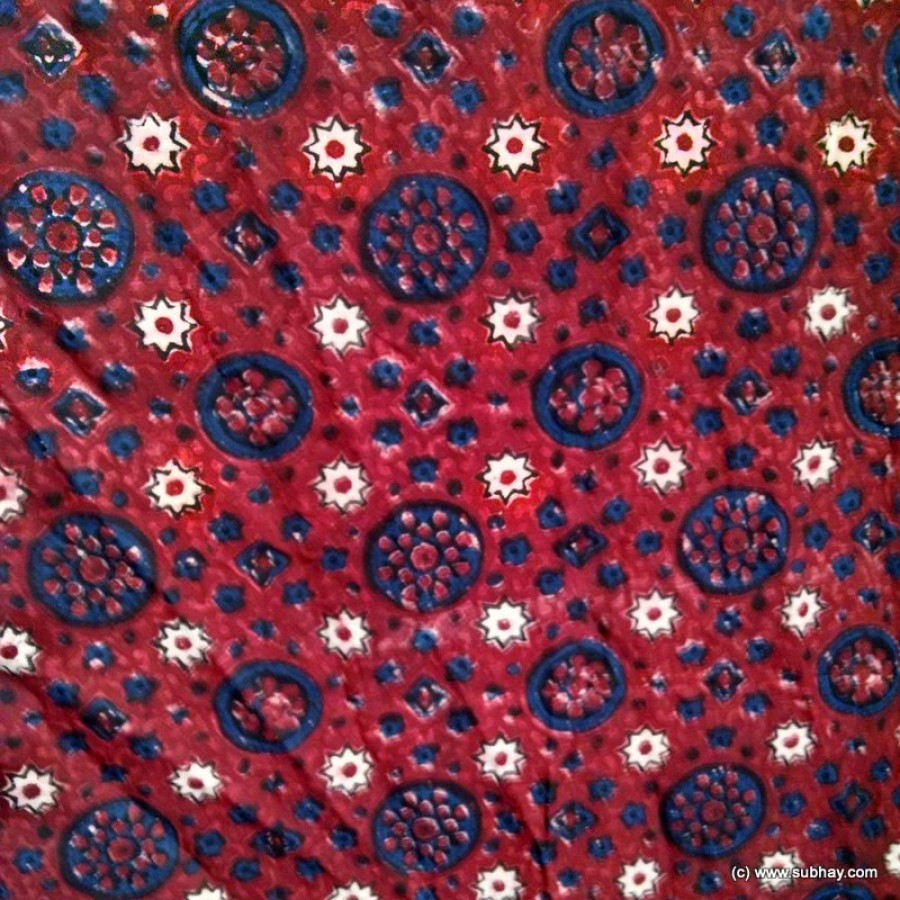 PURE COTTON HERBAL DYED BLOCK PRINTED (ORIGINAL) SINDHI AJRAK SA-28