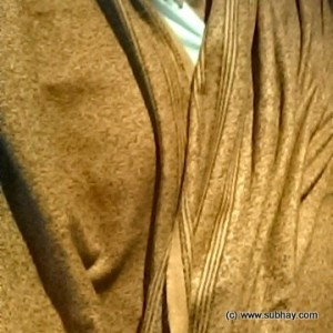 Acro Woolen Golden Brown Color Kashmiri Dhussa Shawl SHL-029