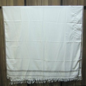 Milk White Color Mix Acrowool Highway Shawl SHL-060