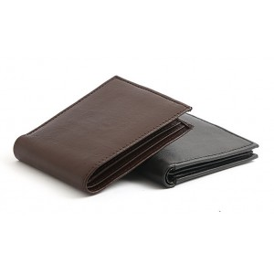 Pack of 2 13 Pocket Genuine Sheep Leather Wallet For Him SLW#04