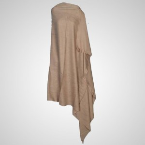 Light Brown Color Semi Pure Kashmiri / Pashmina Shawl SHL-009