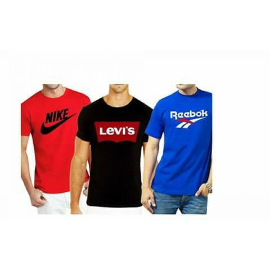 Buy pack of 3 brand printed cotton t shirts tm 01 online for Buy branded shirts online