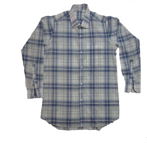 CHECKERED BLUE & WHITE COMFORTABLE SHIRT CS-01