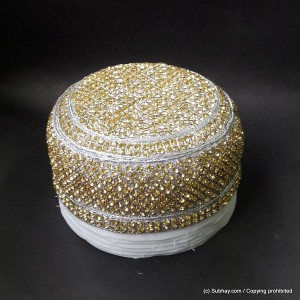 Boski Color Round Full Sindhi Nagina /  Zircon Cap or Topi MKC-633